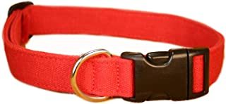 product image for The Good Dog Company-- Hemp Basic Canvas Dog Collars Available in Blue,Green,Red,Black
