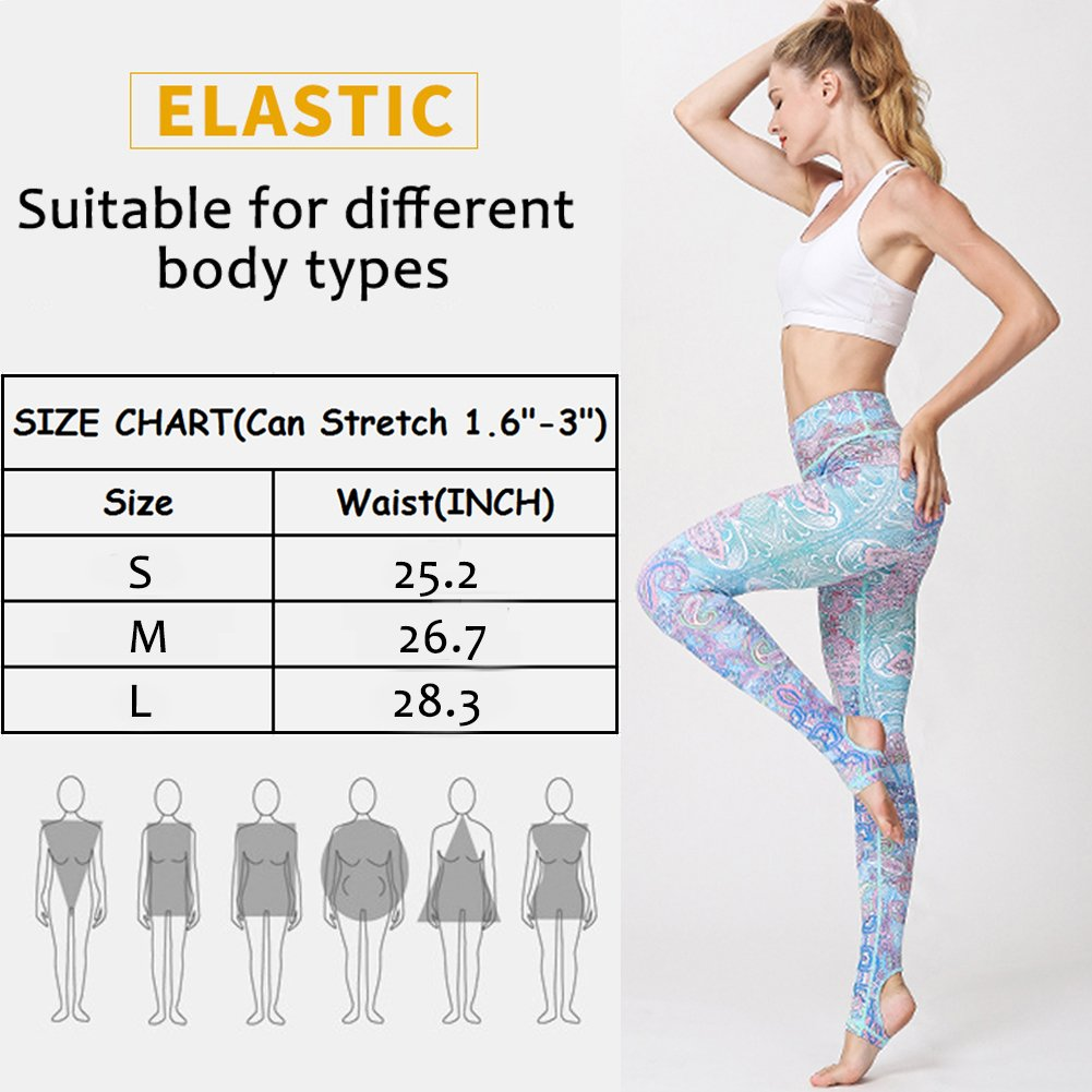 Yoga Pants High Waist Tree Print Fitness Leggings Stretchy Workout Tights for Women Activewear Tummy Control