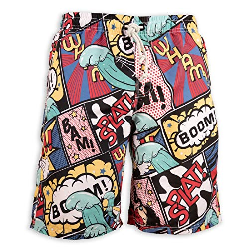 (Prefer To Life Summer Men's Board Shorts Fashion Leisure Printing Swimwear Beach Holiday Party Swim Trunks Size XL(Cartoon surf Comic, XL))