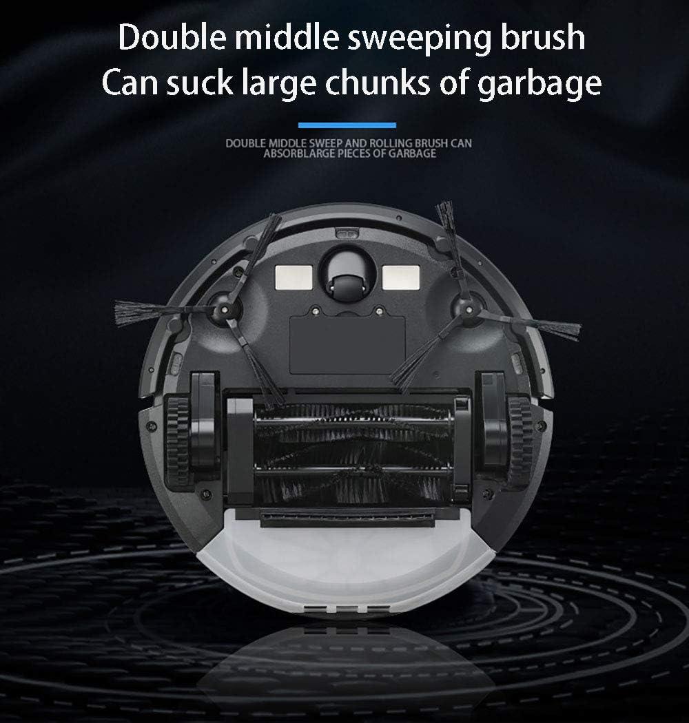 Aspirateur Robot Silencieux Chargé Automatique,aspirateur Robot 3 en 1,Capteur Anti-Chute Intelligent Auto-Charge Automatique Applicable pour Aux Tapis Et Sols Durs White