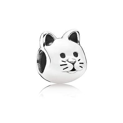 389dc1628 Amazon.com: Pandora Curious Cat Silver Charm 791706: Jewelry