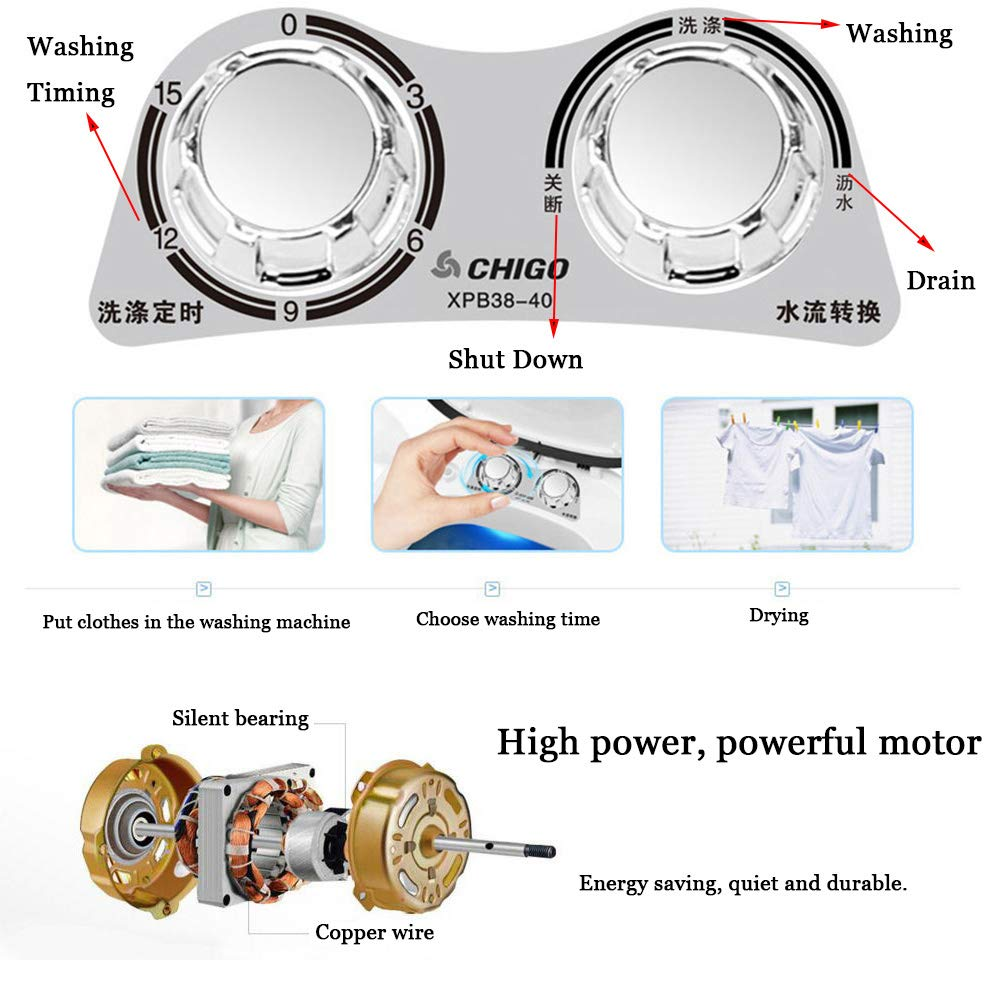 38kg Elution Integrated Single Tube Washing Machine Barrel Dry Motor Wiring Diagram Large Capacity Baby Special Led Violet Antibacterial Household Small Mini