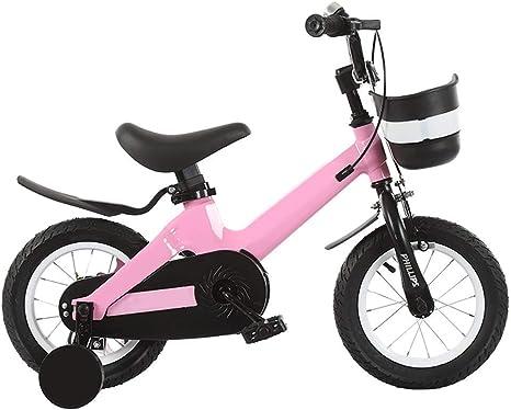 JINHH Niños Bicicleta Niño Niña 2-3-4-6-7 Años Bicicleta con Rueda Auxiliar: Amazon.es: Deportes y aire libre