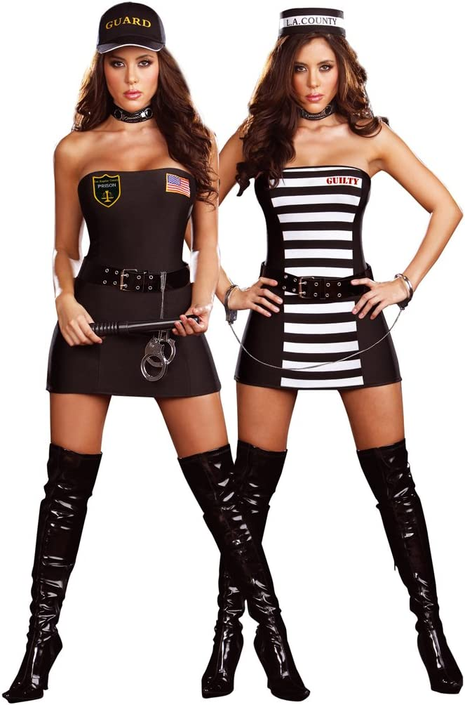 Cesar - Pack de 2 disfraces de policía y ladrona para mujer ...