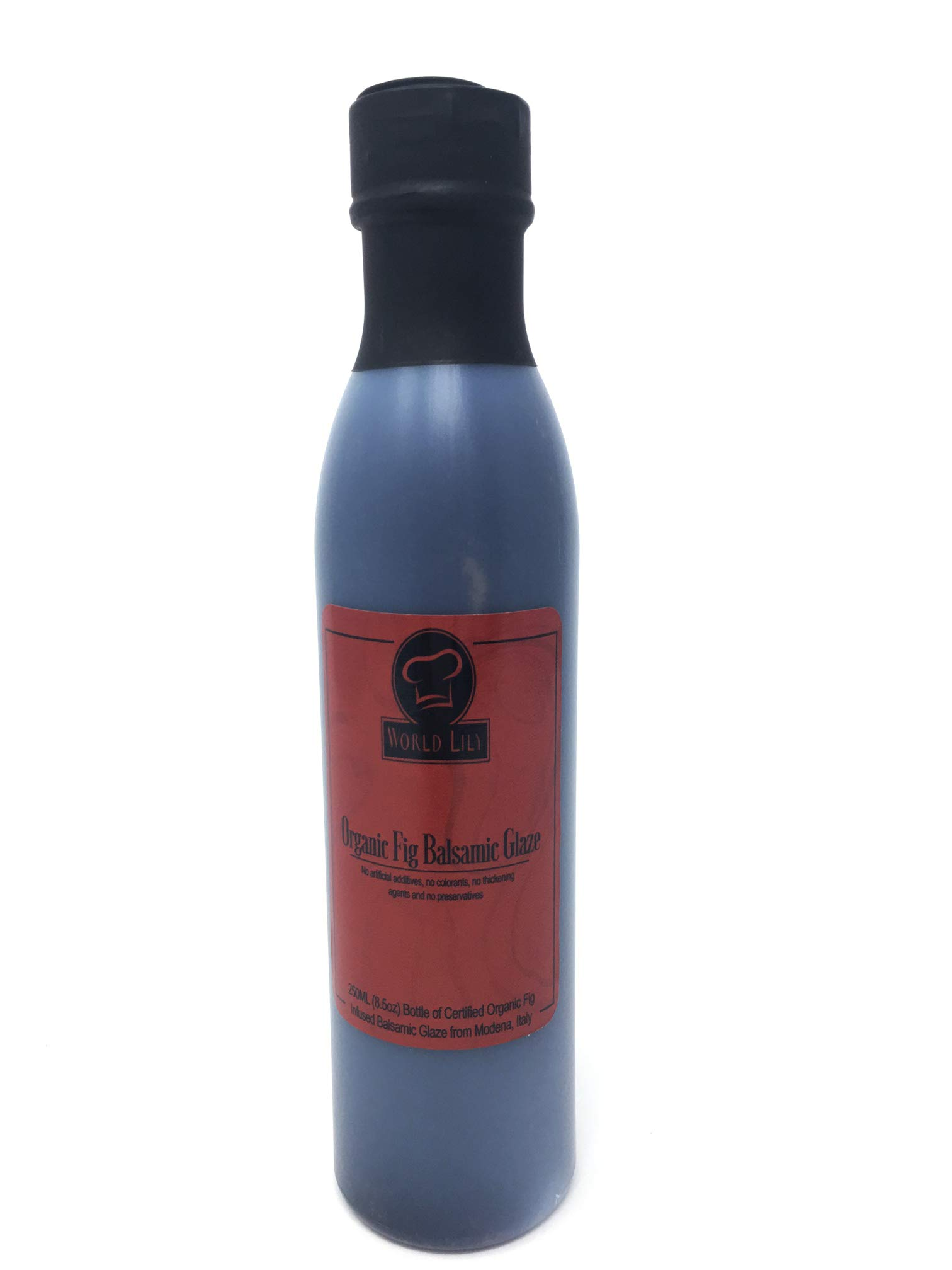 Organic Fig Balsamic Glaze 8.5 oz. from Modena, Italy 1 Organic Balsamic Glaze from Modena, Italy 100% Natural: No artificial additives, no colorants, no thickening agents and no preservatives. Delicious Fig Infused Flavor