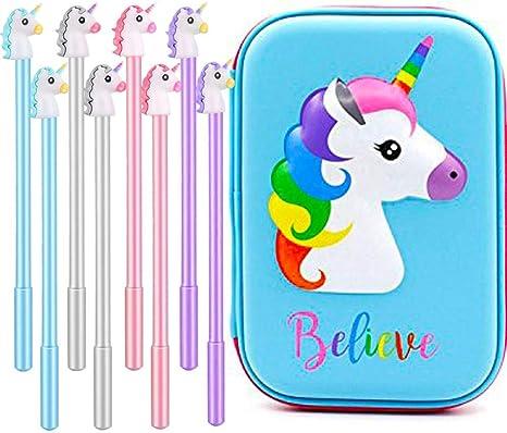 Homekit - Estuche de lápices de unicornio de goma EVA, estuche de lápices con diseño de unicornio