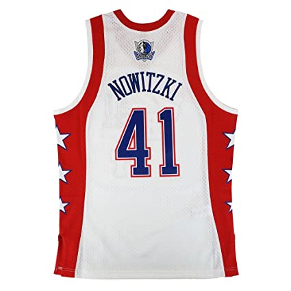 5ac92a4b9 Image Unavailable. Image not available for. Color  Mitchell   Ness Dirk  Nowitzki 2004 NBA All Star East Swingman White Jersey Men s