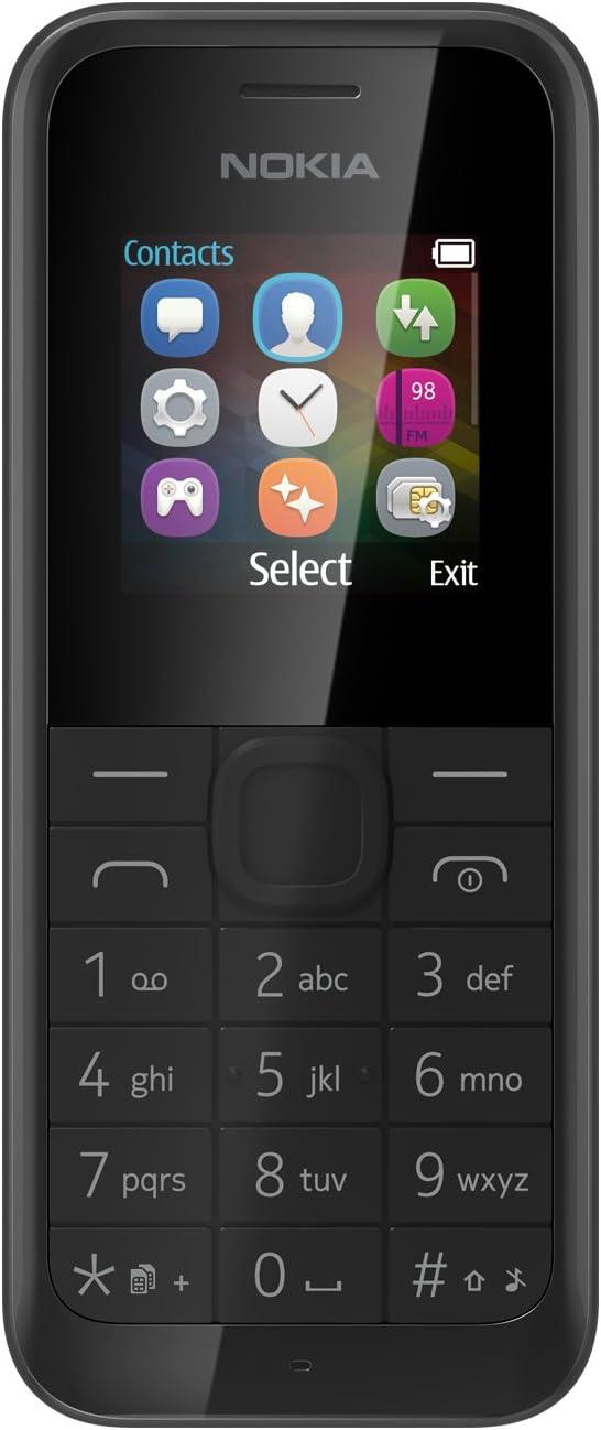 Nokia 105 - Teléfono móvil, liberado, 2G, Pantalla: 1,45 Pulgadas ...
