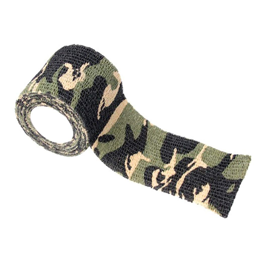 Aulley Outdoor Camo Bicycle Sticker Masquerading Camping Camouflage Stealth Duct Tape Adhesive Wrap