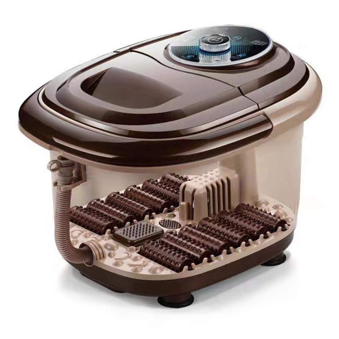 フットマッサージャー 家のための酸素を帯びた泡の指圧混練熱でDeepens足浴槽 B07TJQPGSL
