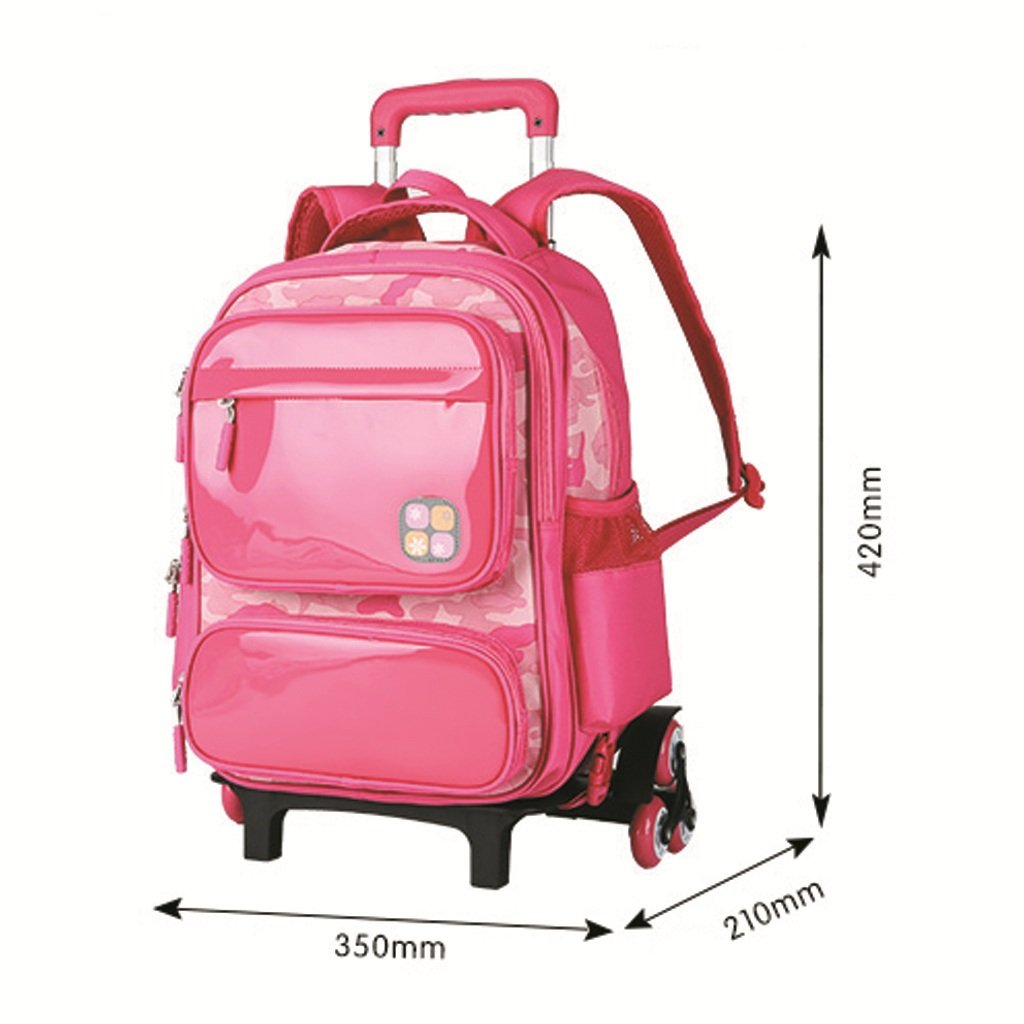 Childrens trolley backpack water repellent six-wheeled climbing ladder primary school backpack