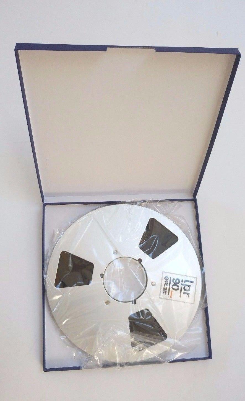 NEW RTM PYRAL BASF LPR90 1/4'' 3608' 1100m 10.5'' Metal Reel NAB Hinged Box RMG/EMTEC Studio Mastering Tape R38520