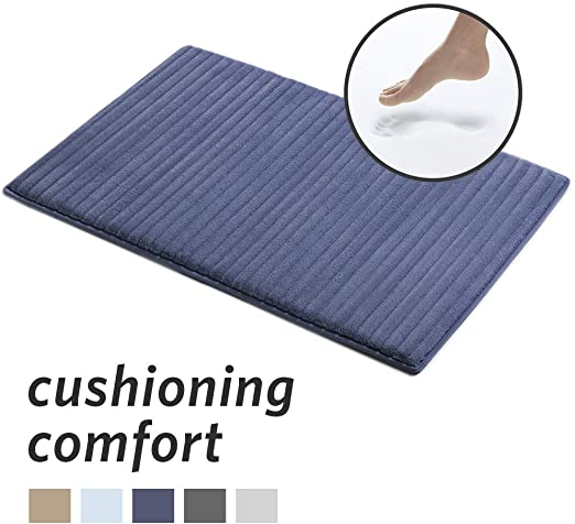 Amazon Com Microdry Memory Foam Channel Bath Mat With Griptex