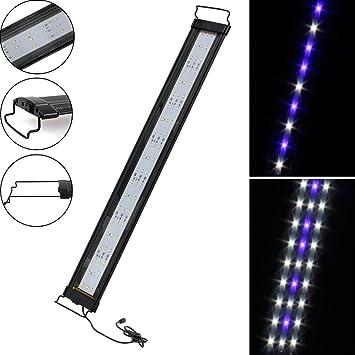SPEED 30W Acuario Luminaria LED Luces De Iluminación De Aluminio Azul Blanco/RGB: Amazon.es: Hogar