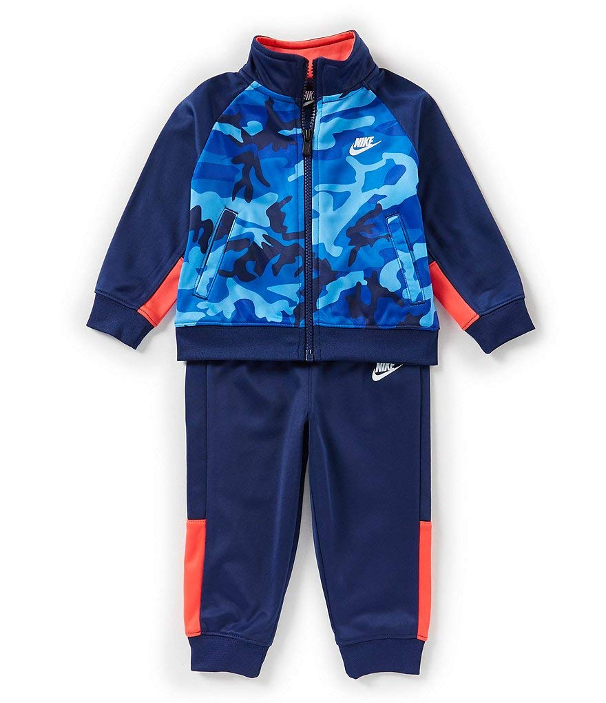 Nike Boy`sTherma Dri-Fit 2 Piece Tracksuit (Blue Void(66D698-U89J)/Red, 12 Months)