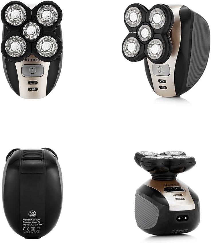 KEMEI 5 en 1 Afeitadora eléctrica Macho Portátil 4D Traje de ...