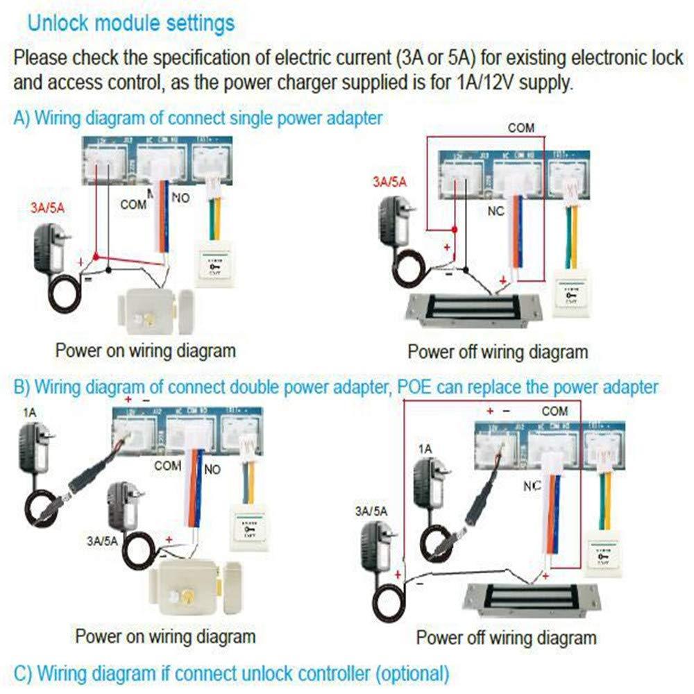 Vernwy Wireless Smart Video Trklingel Intercom Elektronik Dj 5a Wiring Diagram