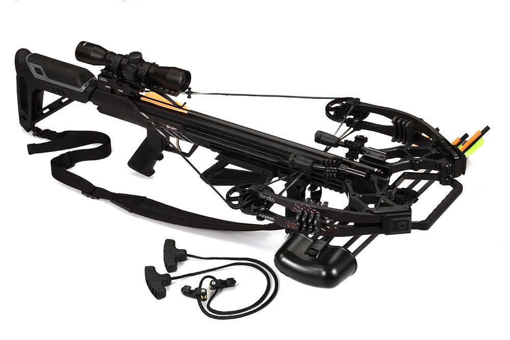 Bruin Ambush 410 Crossbow Package w Scope, Bolts, Quiver and Cocking Rope