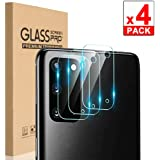 [4 Pack] Back Camera Lens Screen Protector for Samsung Galaxy S20 (6.2 inch), Ultra-Thin 9H Hardness 5D Crystal Scratch Resistant Tempered Glass Lens Protector Protective Film