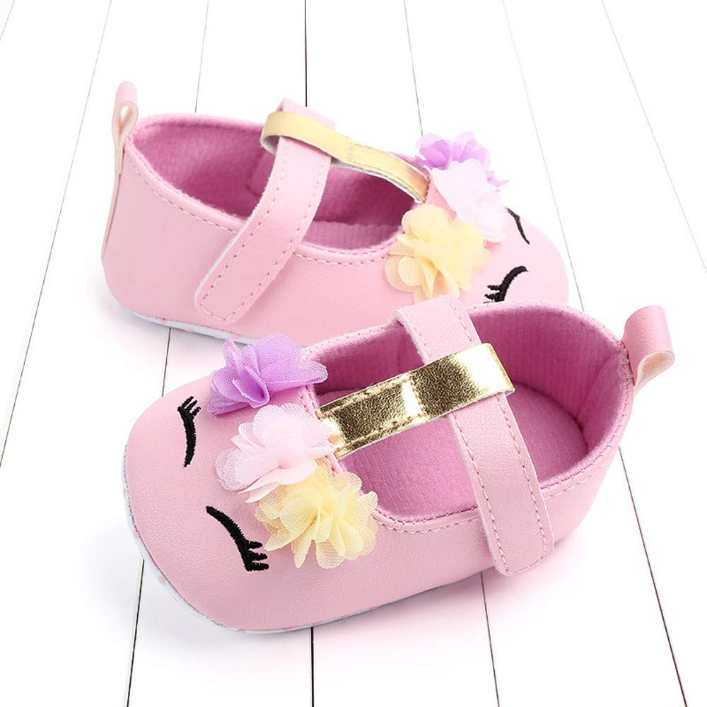 NUWFOR Cute Baby Girls Newborn Infant Cartoon Floral Casual First Walker Toddler Shoes(Pink,6-9Months) by NUWFOR (Image #4)