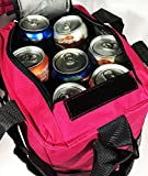 LARGE PINK GRAY TRAVEL INSULATED COOLER BAG FOR MEN & WOMEN BY C
