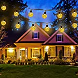 Icicle Solar String Lights 20FT 30 LED Crystal