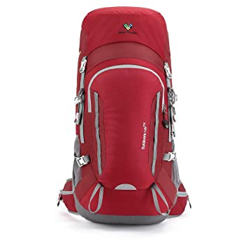 CAMEL CROWN 45L Hiking Backpack Trekking Rucksack Lightweight Daypack With  Waterproof Rain Cover For Men Women 5e17983d9907c