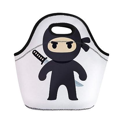 Amazon.com: Semtomn Lunch Tote Bag Anime Cartoon Ninja ...