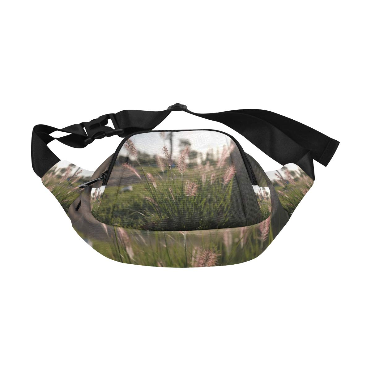 Beautiful Meadow Bristle-grass Fenny Packs Waist Bags Adjustable Belt Waterproof Nylon Travel Running Sport Vacation Party For Men Women Boys Girls Kids