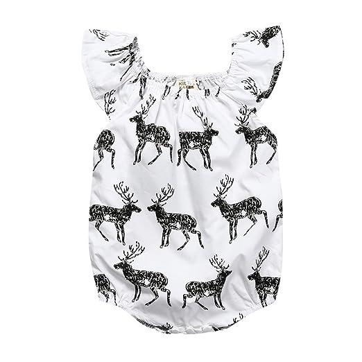 8e9ef31b4dc Image Unavailable. Image not available for. Color  Kids Tales Newborn  Princess Baby Girl Deer Romper Jumpsuit Bodysuit Sunsuit Outfits Clothes