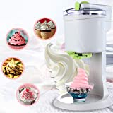 Automatic Ice Cream Machine, DIY Ice Cream Maker, Electric Ice Shaver Snow Cone Maker, Fast, Easy Clean, for Household…