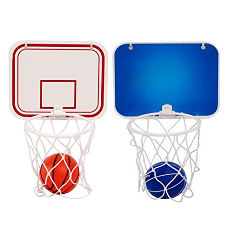 ef0f1c6afad2 KiGoing Canestro da Basket per Bambini Mini Basketball da Appendere con  Sfera e Pompa Sucker Set