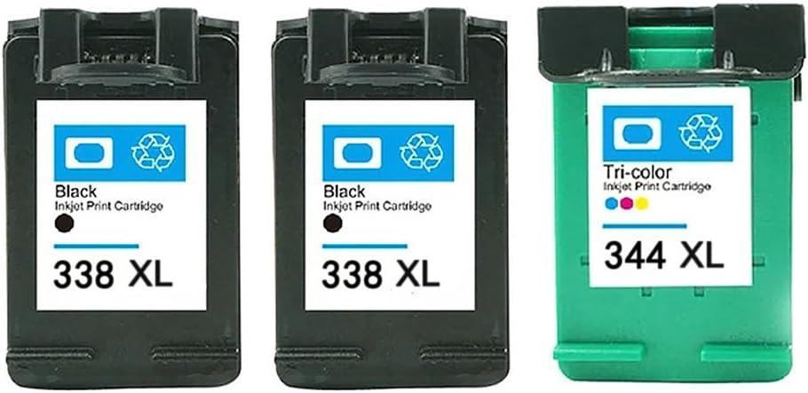 ETI Consumable remanufacturados 3 Pack 2 Reemplazar el cartucho HP 338 XL (Negro) & HP 344 XL (tricolor) de Alto Rendimiento Cartucho de tinta (C8765EE C9363EE): Amazon.es: Electrónica