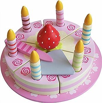 MAGNI - Tarta de cumpleaños de Madera con Velcro y Velas ...