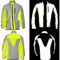 BTR Hi Vis Reflective Jacket Ideal For Cycling, Running, Jogging, Riding. Fits Men & Women. High Visibility (Hi Viz) & VERY Reflective Outdoor Sports Jacket