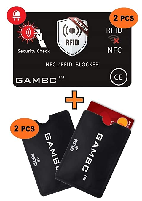 d2cddb2cdb352d GAMBC® [4 Pz] ✅ 2 Carte RFID Protection con LED + 2 Custodie Blocco ...