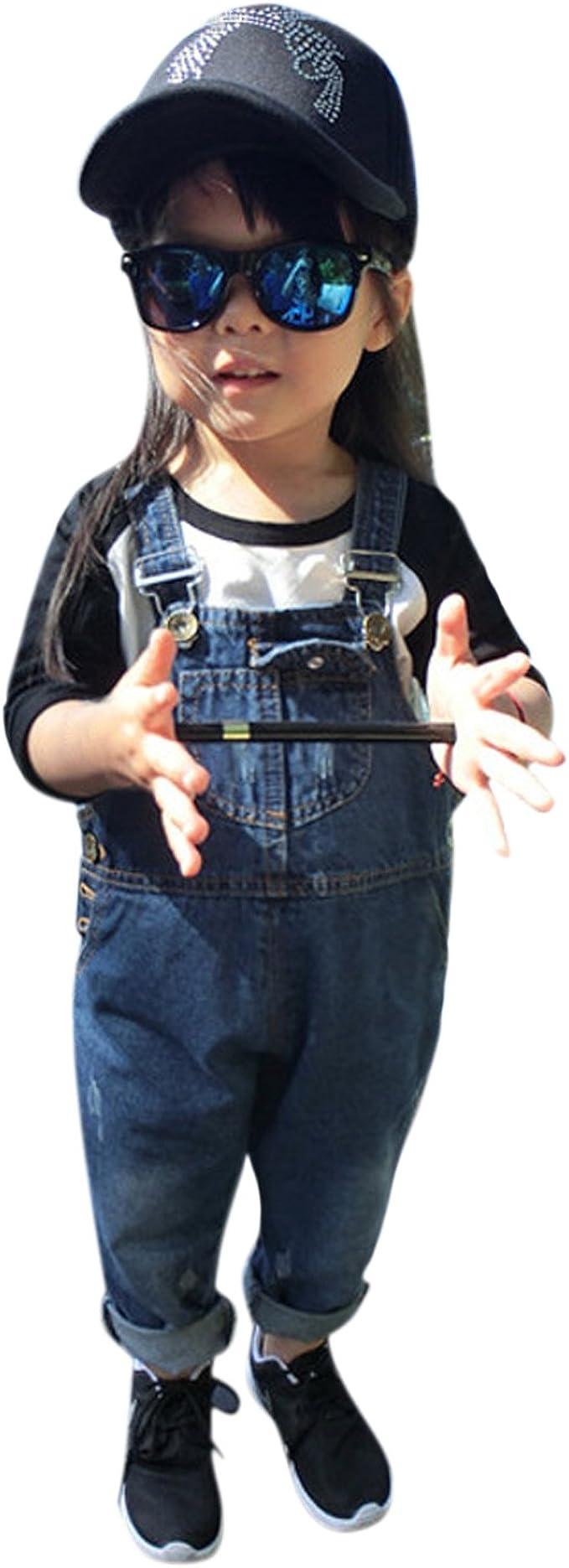 Evelin LEE Baby Boys Girls Denim Suspender Pants Overalls