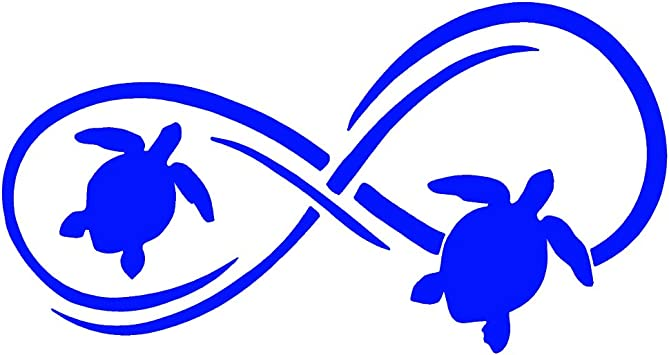 Vinyl Sticker Car Decal Laptop Sticker Sea Turtle Infinity Decal Vinyl Decal
