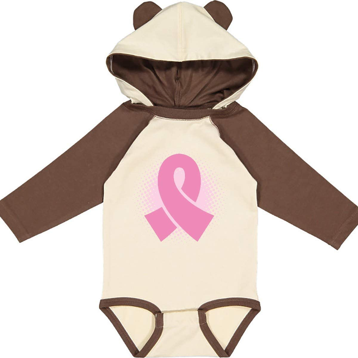 inktastic Breast Cancer Pink Ribbon Awareness Month Long Sleeve Creeper