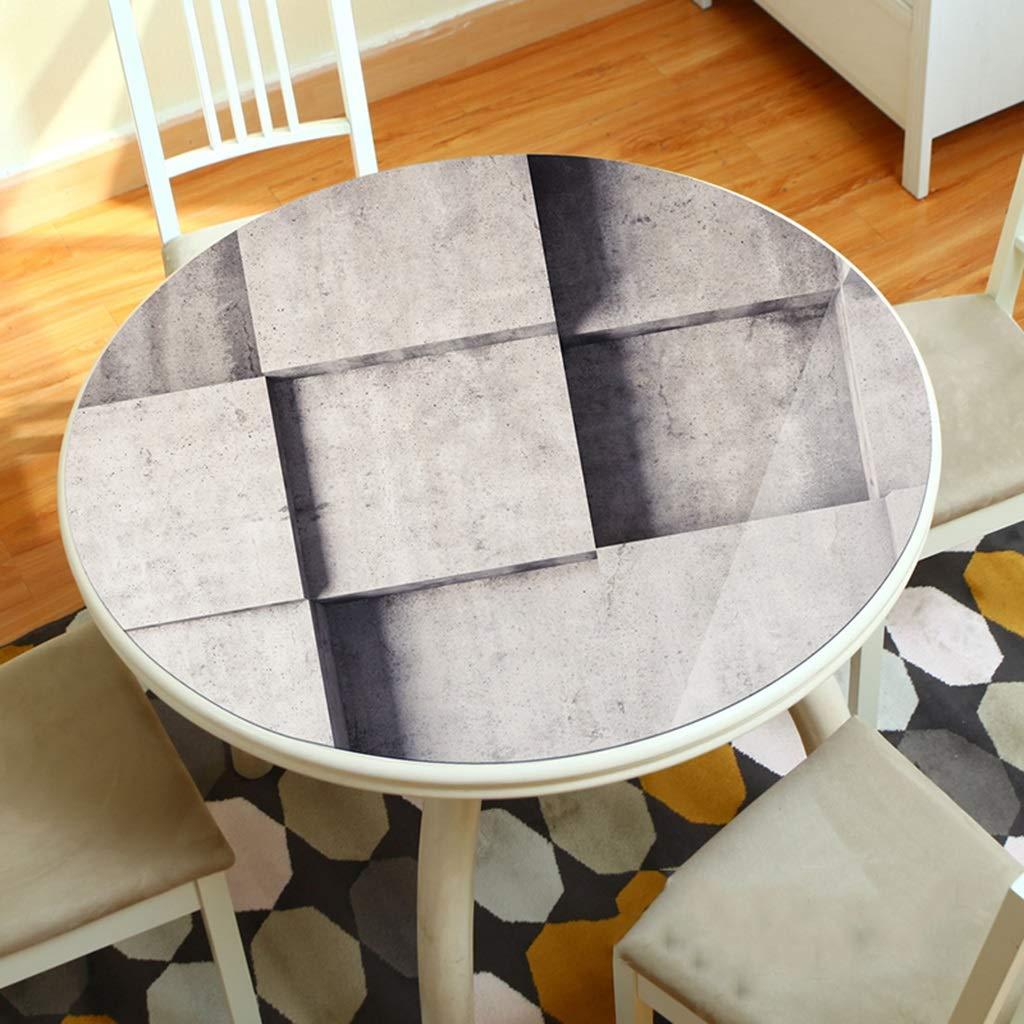 LLH PVC Tischdecke, 3D Runde Tischset Wasserdicht und ölBesteändig Einweg Tischdecke Dicke Weiche Plastik Tischdecke ZHUOB (Farbe   A, größe   110cm) B07Q9HW9GQ Tischdecken Abgabepreis  | Outlet Store