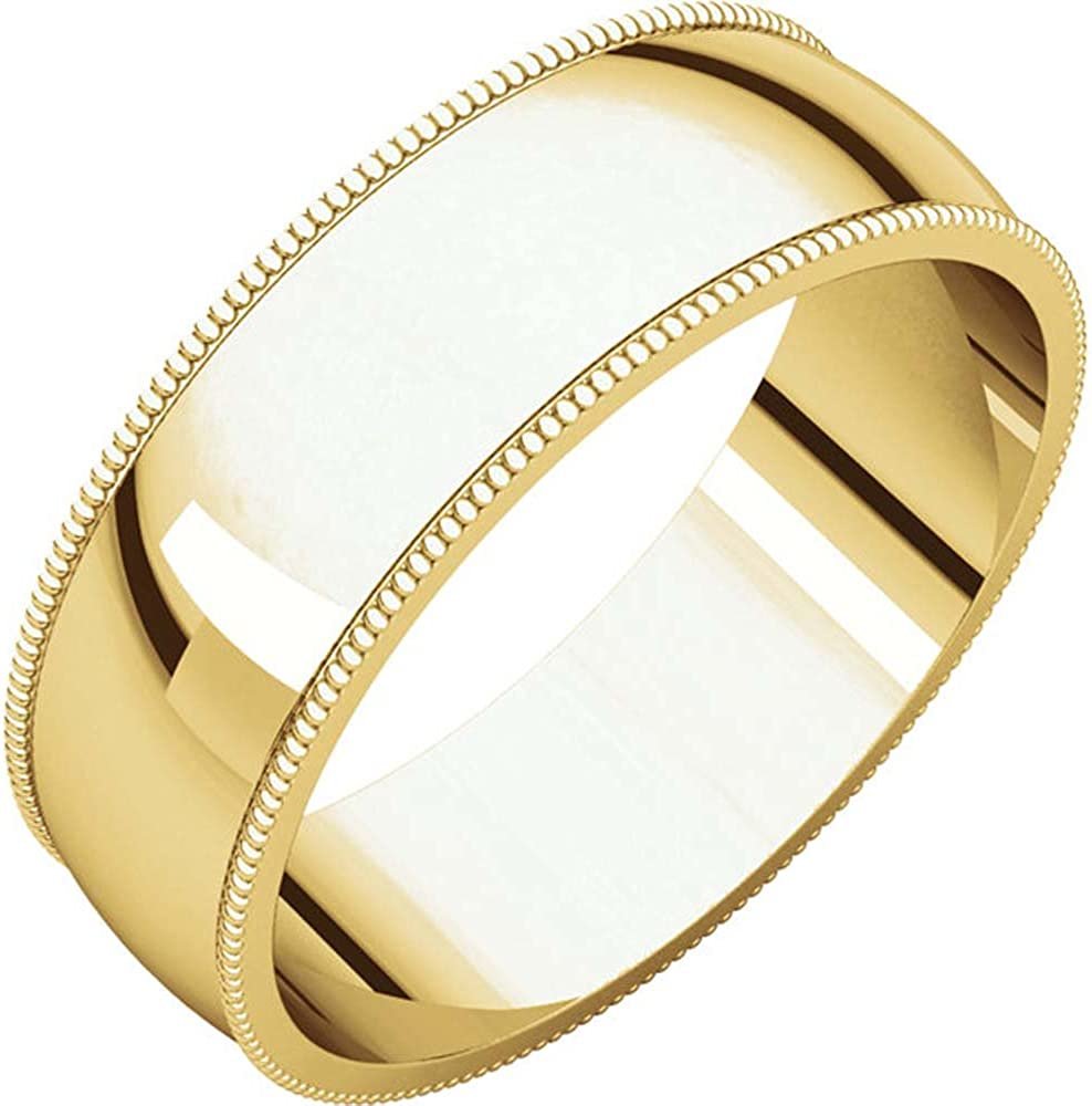 Size 11 06.00 mm Light Milgrain Band in 10K Yellow Gold