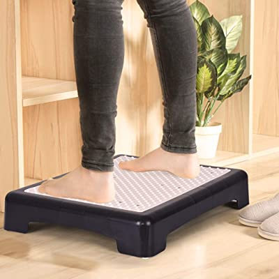 Step Riser Large Size Non Slip Indoor Outdoor Sturdy Step Stool Portable Elderly Toddler Footstool Foot Pedals (Ship from US) (18.89in×14.96in×4.13in, White): Kitchen & Dining