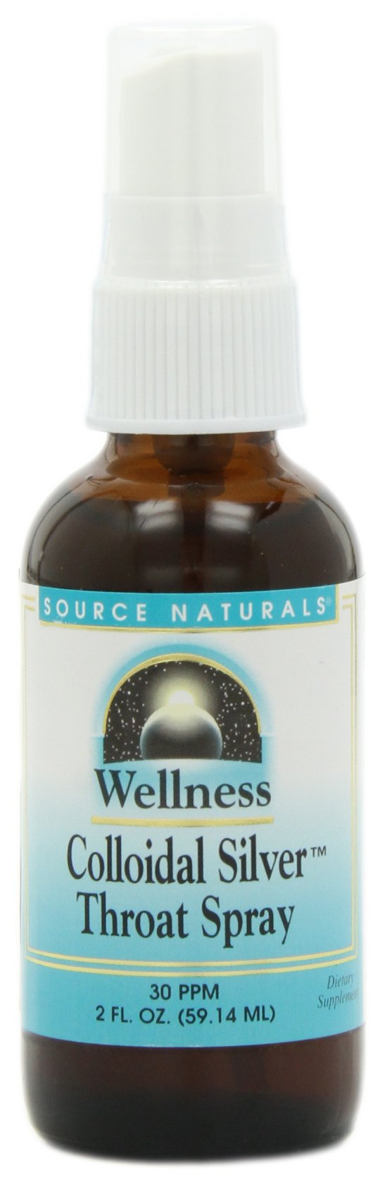 Source Naturals Wellness Colloidal Silver 30 ppm Fine Mist Spray - Pure, Premium Silver Mineral Supplement - 2 oz
