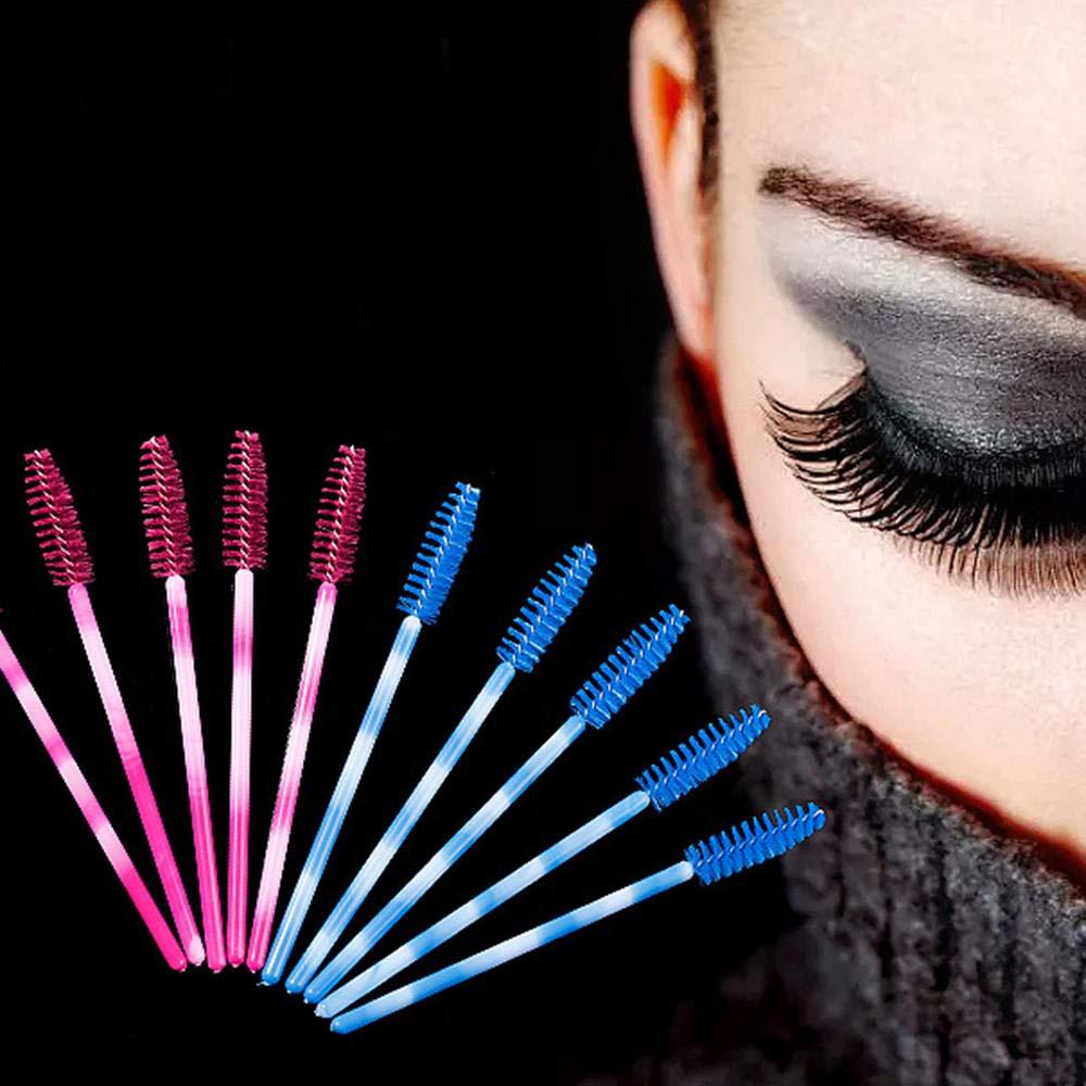 Eye shadow applicators 100pcs Eyelash Brushes Disposable Makeup Brushes Set Mascara Wands Applicator Spoolers Eyelashes Extension Makeup Tools by DAKUHO