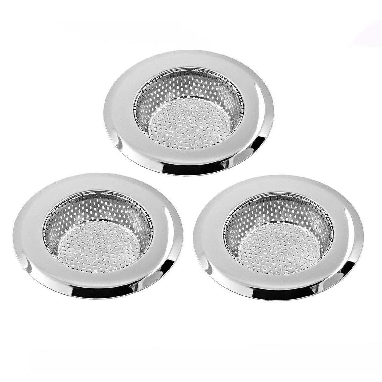 Xrten 3 Piezas Filtro de Fregadero de Cocina de Acero Inoxidable para Fregadero Lavabo baño o Cocina