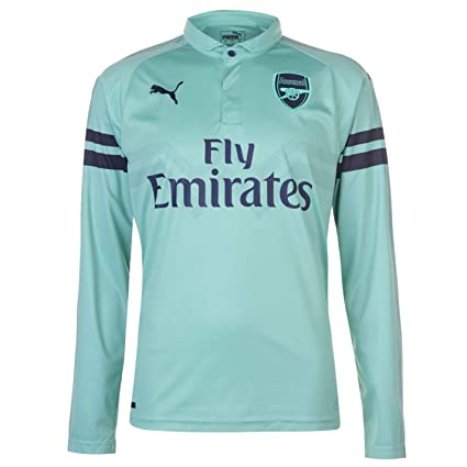 buy popular b2f4c dee06 PUMA 2018-2019 Arsenal Third Long Sleeve Football Soccer T-Shirt Jersey