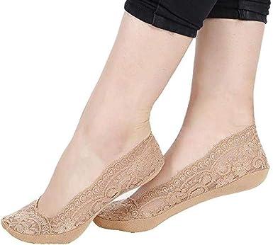 adolenb Calcetines de encaje dulce para mujer Calcetines cómodos ...