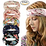 Womens Boho Headband - Floal Fashion Elastic Printed Head Wrap Style Hairband Headscarf Hair Accessories