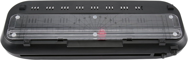 80 Mikron, DIN A4, 100 St/ück transparent schwarz /& Fellowes 5306114 ImageLast Laminierfolien Olympia 4 in 1 Set A 230 Laminierset f/ür A4