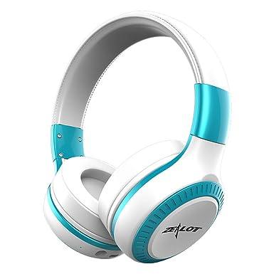 Bluetooth 4.1 auriculares estéreo de alta fidelidad auricular inalámbrico de auriculares de plegable LED pantalla Protector